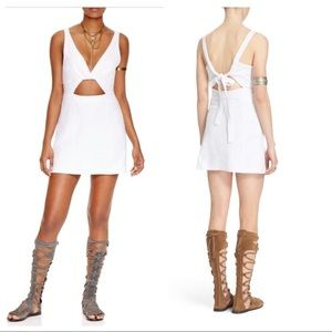 Free People Desert Dreamer Mini Dress White Dress